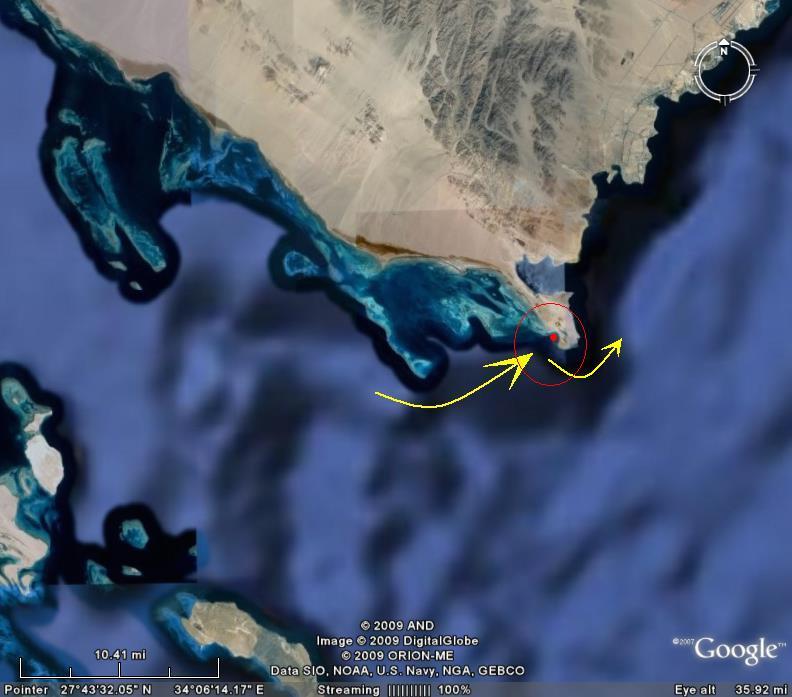 الأقمار الصناعية تكشف عن مجمع البحرين المذكور بالقرآن بسيناء !!!!